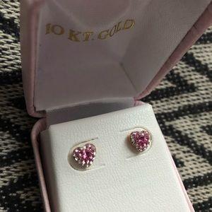 Other - Girl heart earrings